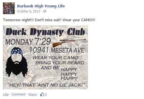 Burbank High Young Life   Facebook